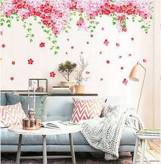 Decor Your Living Room with Lovely Cherry Blossom Flowers