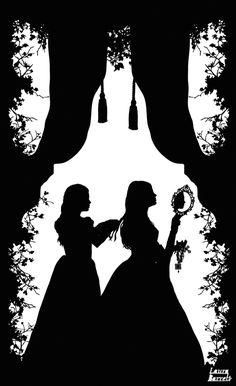 A Girl for All Time: Matilda's Secret - Laura Barrett - London Based Freelance Silhouette & Pattern Illustrator - Illustration Portfolio