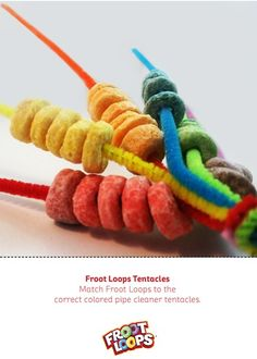 Froot Loops Tentacles helps your kids improve their fine motor skills.