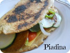 From Veggie to Vegan: Vegan Mofo - Piadina