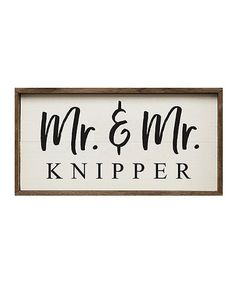 Loving this 'Mr. & Mr.' Personalized Framed Wall Art on #zulily! #zulilyfinds
