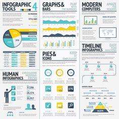 Infographic element set on Behance
