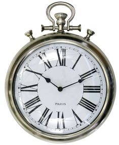 CC Home Furnishings Old Fashioned Antique Oversized Pocket Watch