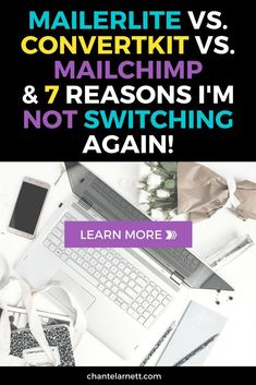 MailerLite is free to start but has advanced features like ConvertKit. I switched from MailChimp to MailerLite. Here are 7 reasons I'm not switching again. Email Marketing Strategy, Content Marketing, Online Marketing, Media Marketing, Digital Marketing, Make Money Blogging, How To Make Money, Business Tips, Online Business