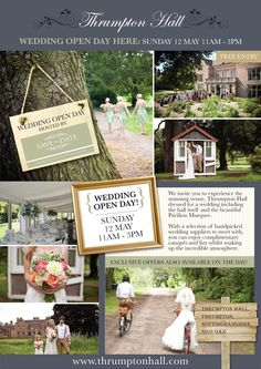 Calling all brides to be!  Wedding Open Day on the 12th May!  x