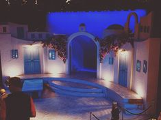 Okay I didnt expect that level of set design for a Chemainus theatre. Stage Set Design, Set Design Theatre, Prop Design, Mamma Mia, Red Mountain High School, Education Architecture, Scenic Design, Lighting Design, Old Shows
