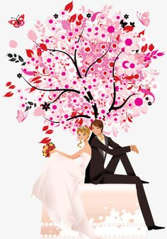 Hand-painted festive wedding invitations bride and groom, Wedding, Joyous, Micro Invitations PNG and PSD Bride And Groom Silhouette, Couple Silhouette, Silhouette Painting, Cute Couple Cartoon, Cute Couple Art, Wedding Card Design, Wedding Cards, Alien Drawings, Dream Catcher Art