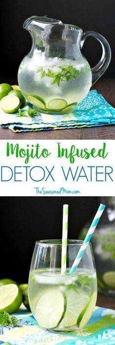 Detox Water Recipes para la salud y la pérdida de peso - MOJITO INFUSED DETOX WATER - Detox Agua Recipies para la pérdida de peso, para la barriga Shrinking, para la piel, para limpia, para quemar grasa, y que son simples y tienen enormes beneficios para la salud. Las Ideas Pueden Incluir Fresa, Limón, Y Cualquier Fruta. Estos son DIY, paso a paso, simple, fácil y trabajo para la pérdida de peso y el acné. - https://www.thegoddess.com/detox-water-recipes-health-weight-loss