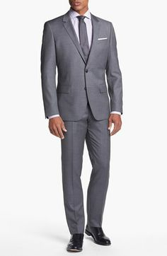 BOSS Black 'Huge/Genius' Trim Fit Wool Suit available at #Nordstrom