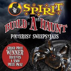 Pin the haunt of your nightmares for our Build A Haunt Pinterest Sweepstakes going on now through October 13! Start building your board now!