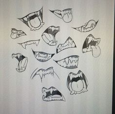 Werewolf/wolf teeth/mouths reference