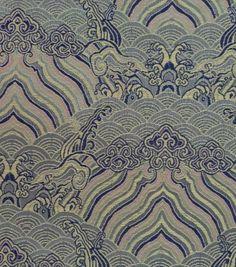 Brocade Fabric-Clouds Light Blue