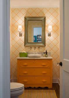 Oceanfront LEED Silver Home - beach style - powder room - providence - George Penniman Architects, LLC