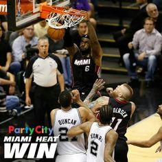 Heat v Spur final score 98-96 Miami Heat win round 2 in the Finals 2014