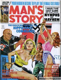MAN'S STORY cover http://beatilotofagi.blogspot.it/2014/10/mans-story-cover.html #pulp #illustration #cover #coverart #torture #nazis