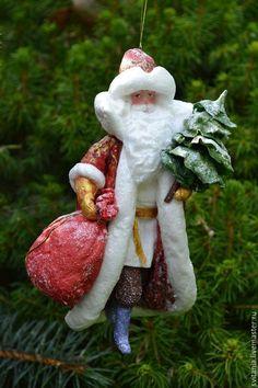 Ватная елочная игрушка Дед Мороз