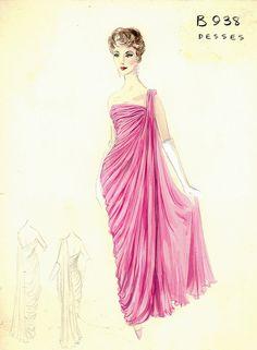 Fashion sketch Evening Gown