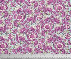 Tula Pink Wild Vines in Raspberry for Free Spirit Chipper Collection Cotton Woodland Fabric - Purple Green Floral Fabric - Modern Fabric by Owlanddrum on Etsy Quilting Classes, Quilting Projects, Woodland Fabric, Free Spirit Fabrics, Textiles, Modern Fabric, Chipmunks, Floral Fabric, Fabric Panels