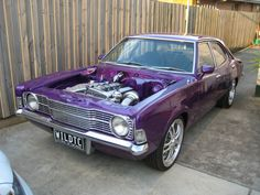 Purple and Chrome Cortina MK3 2 Door - massive amount of modifications, but startling over all