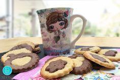 Fil & Croq - sablés bi-color vanille chocolat - #recette #sables #gouter