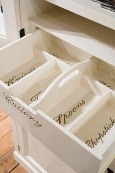 Kitchen drawer design.