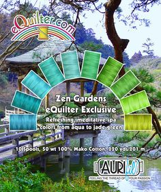AURIFIL Thread Set - eQuilter Exclusive - Zen Gardens