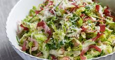Step-by-step instructions. These Shaved Brussels Sprouts are perfect for lunch or dinner. Another simple, delicious and healthy recipe from The Yellow Table.