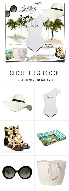 """I would like to have..."" by theitalianglam ❤ liked on Polyvore featuring Pilot, Lisa Marie Fernandez, Versace, Prada, Doug Johnston and ruffledswimwear"