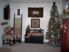 Primitive Christmas Decorating Ideas | Cozycoop's Primitive Christmas living room , I love to decorate my ...