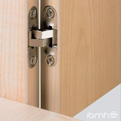 There are basically two types of barn door hardware. The first is a rustic, flat track sliding door system The second is a more modern roller and track style Sliding Door Systems, Sliding Barn Door Hardware, Furniture Hinges, Home Furniture, Furniture Fittings, Invisible Hinges, Building Kitchen Cabinets, Concealed Hinges, Interior Barn Doors