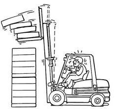 Consejos seguridad carretillas elevadoras No levante la carga cuando el mástil está basculado hacia adelante. Recuerde que el mástil esté vertical o inclinado hacia atrás cuando se levanta una carga, y nunca hacia adelante, más allá de la vertical. Una carga elevada se puede inclinar hacia adelante solamente cuando se va a poner en su lugar de almacenamiento o directamente sobre la zona de descarga.