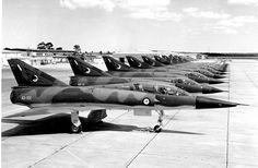 RAAF Number 76 Squadron Mirage IIIO/D models in 1974