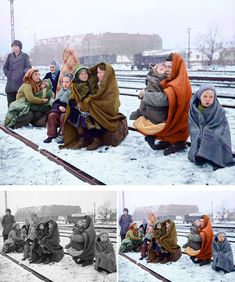 Polish Refugees - Artist Colorizes Old Black & White Photos Making History Come To Life