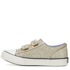 Tommy Hilfiger Kids' Cormac Core Strap Sneaker Pre/Grade School Shoes (Gold) - 11.0 M