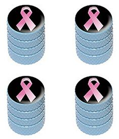 """(4 Count) Cool and Custom """"Diamond Etching Breast Cancer Ribbon Top with Easy Grip Texture"""" Tire Wheel Rim Air Valve Stem Dust Cap Seal Made of Genuine Anodized Aluminum Metal {Blue and Black Colors} mySimple Products http://www.amazon.com/dp/B0131ZJOZ2/ref=cm_sw_r_pi_dp_VzWFwb0J5NWY3"""