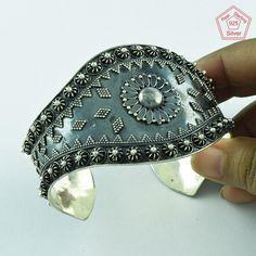 Unique Rava Design 925 Sterling Silver Oxidised Bangle Jewelry P3339…