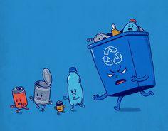 幽默插畫 Ben Chen - 只要我用得著你,我就要把你回收掉…