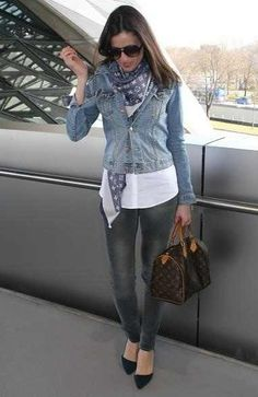 Louis Vuitton scarf...and bag