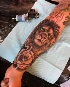 Wrist Tattoos- Wrist Tattoos tattoos for men lion wrist tattoo wrist covering lion tattoo - Tattoo Girls, Girls With Sleeve Tattoos, Girl Tattoos, Tattoos For Women, Tattoo Quotes For Men, Simple Tattoos For Guys, Trendy Tattoos, Small Tattoos, Feather Tattoos