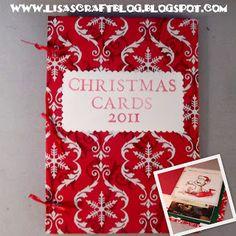 Lisa's Craft Blog: Tutorial: Christmas Card Book