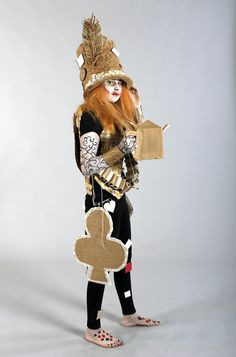 Strode College  -  Somerset UK Cardboard Catwalk 2014 Mad Hatter
