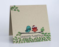 A Busy Little Craftee Bee: Lawn Fawn: Winter Sparrow & Happy New Year