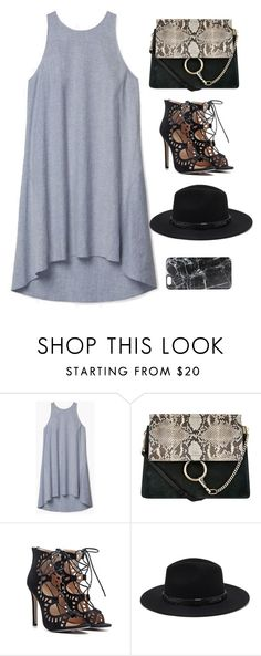 """""""Untitled #9490"""" by katgorostiza ❤ liked on Polyvore featuring Theory, Chloé, Forever 21 and Casetify"""