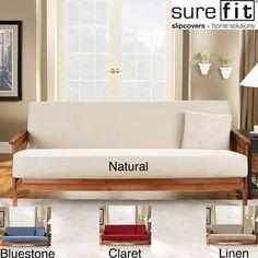 Sure Fit Cotton Duck Futon Slipcover   Overstock.com (natural or linen)