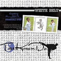 White Belt - Martial Arts Digital Additions Scrapbook Layout from Creative Memories
