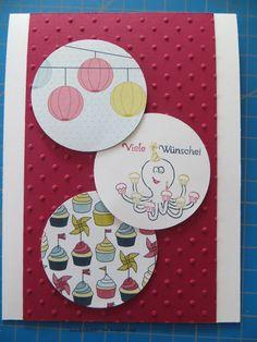 MtS - Sketch 071:   Stampin up CS weiß und waldhimbeere / Stempelset Kindereien / Farben mitternachtsblau, mango, waldhimbeere und morgenrot / DP Straßenfest