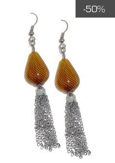 #kookai #jewels - Orecchini pendenti color oro con catenelle a maglia piccola