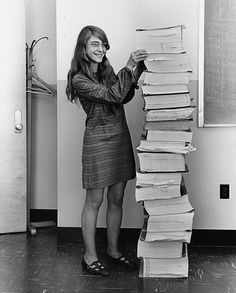 Computer scientist Margaret Hamilton with the printout of the Apollo Guidance Computer software. You don't get people to the Moon without a ton of code, you know.
