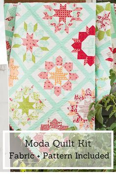 You'll fall head over heels for the Swoon Quilt Kit from MODA! Featuring a pattern and gorgeous fabric from Bonnie and Camille's Hello, Darling collection, this kit blends vintage prints with sweet, modern hues. Bring together 16 beautiful blocks for one showstopping quilt top!
