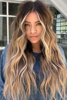 Hair Beauty - shaghaircut,haircuts-Super Long Shag Haircut longshaghaircut shaghaircut haircuts longhair ❤️ Nothing can compare to the beautifying Long Shag Haircut, Hair Color Balayage, Bronde Haircolor, Ombre Hair Color, Blonde Highlights, Caramel Highlights, Hair Looks, Hair Trends, Dyed Hair